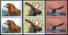 Norway 2000, NK 1391-93 Wild Animals, Tourist VII set VF MNH, Mi 1346-48 cat 11€