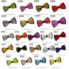 Men Satin Novelty Bow Tie Dickie Bow Pre-Tied - Tuxedo Silky BowTies Fancy Dress