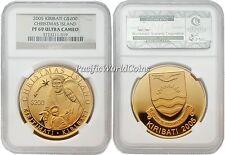 KiRibati 2005 Christmas Island $200 1 oz Gold NGC PF-69 ULTRA CAMEO