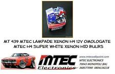 MT 439 MTEC LAMPADE XENON H4 12V OMOLOGATE MTEC H4 SUPER WHITE XENON HID BULBS