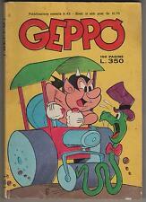GEPPO n. 43  editoriale metro 1978