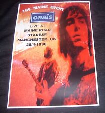 OASIS concert poster Maine Road Stadium Manchester UK 1996  A3 size repro