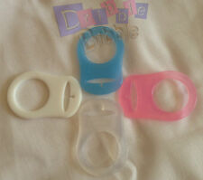 ❤ Blue ❤ Pink ❤ White ❤ Clear ❤ x2 Silicone Dummy Clip Rings Adapters MAM NUK