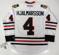 NIKLAS HJALMARSSON CHICAGO BLACKHAWKS REEBOK NHL PREMIER AWAY JERSEY