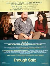 ENOUGH SAID Oscar advertisement James Gandolfini Julia Louis-Dreyfus FYC ad