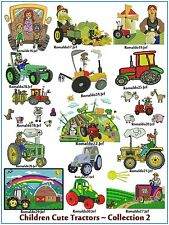 INTERNATIONAL SITE: Children Cute Tractors Collection no. 2 - 15 Designs on CD