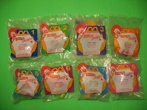 1997 McDonalds - Nickelodeon Tangle set of 8 *MIP*