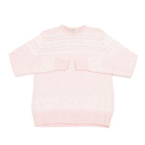 Vintage KAPPA Pink Jumper | Medium | Sweater Top Retro Patterned Fair Isle