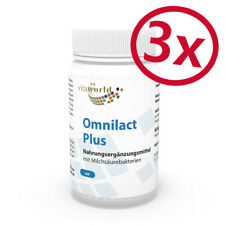 Pack de 3 Probiotique Omnilact plus  180 Capsules  Lactobacillus Bifidobacterium