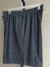 Woman Within Cotton Blend Jersey Knit  Elastic Waist  Shorts 6X 42-44W Charcoal