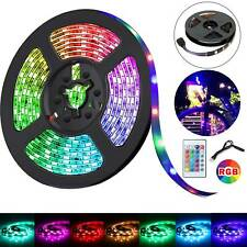 New 2M 5050 RGB TV LED Strip LED Strip Lights With Remote Controller UK