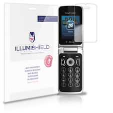 iLLumiShield Phone Screen Protector w Anti-Bubble/Print 3x for Sony T707