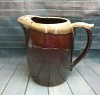 "Vintage McCoy Pottery Brown Drip Glazed 8"" Tall  Pitcher USA Original #7011"
