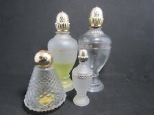 Vintage Avon bottles Lot of 4 Empty Cologne Clear Glass Bottles R1-7