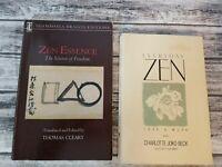 Lot of 2 Books on Zen - Everyday Zen & Zen Essence Paperbacks FREE SHIP