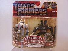 Transformers Robot Heroes Sideswipe and Sideways MOC 2009
