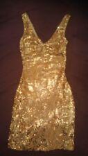 Bebe gold sequin dress size xxs, BNWT *Christmas*