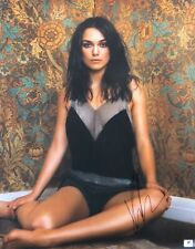 Keira Knightley Signed Huge 16X20 Photo Sexy Sitting in Corner GV788723