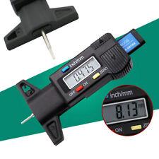 LCD Display Digital Depth Gauge Tyre Tire Tread Brake Pad Shoe Wear 0-25.4mm