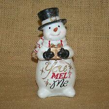 Snowman You Melt Me Christmas Winter Figurine
