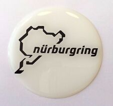 Nurburgring White/Black Sticker/Decal - 72mm HIGH GLOSS DOMED GEL FINISH