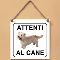 Irish Glen of Imaal terrier 2 Attenti al cane Targa cane cartello ceramic tiles