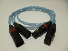Schmitt Custom Audio Black Gold 47 Labs 3pin XLR Cables 1mtr 1pr Black