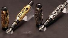 MONTEGRAPPA 1995 SILVER AND GOLD DRAGON ARTIST PROOF SET: 2 FOUNTAIN PENS