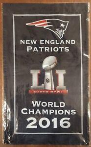 New England Patriots Banner World Champion 2016 Super Bowl LI