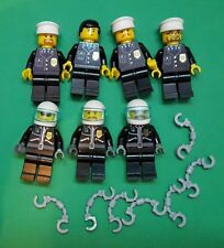 7 X GENUINE LEGO Army Builder CITY Police officers motorcycle cop ALL LEGO PARTS