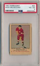 ALEX DELVECCHIO 1951-52 Parkhurst Hockey #63 PSA 4 VG-EX DETROIT RED WINGS HOF