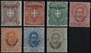 1895 Colonie italiane Eritrea Sovrastampati d'Italia 1895-99 MH*