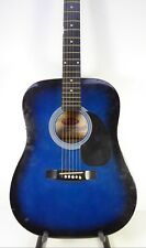 Stagg SW201BLS Dreadnought Blue Acoustic Guitar 1401684