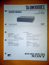 Sony TA-DM1000ES Service Manual (original) Used