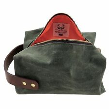 Waxed Canvas Hunter DOPP KIT in Olive | Made in USA