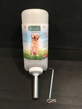 FREE SHIP LIXIT Water Bottle Dog Wide Mouth Easy Cleaning W/ Spring Holder 32 Oz