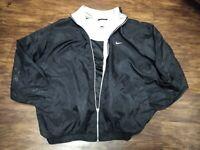 Nike Women's L 12-14  Black with Gray Lining Full Zip Windbreaker Track Jacket
