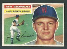 Jerry Schoonmaker Washington Senators 1956 Topps Card #216 RC