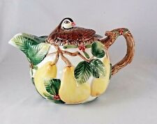 VIntage Fitz and Floyd Woodland Partridge In a Pear Tree 40 oz Teapot