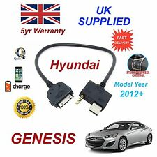 Para Hyundai Génesis Iphone 3 3gs 4 4S Ipod USB & Cable Audio Auxiliar My 2012+