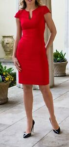 Brand new with the tags designer dress size 6 red colour
