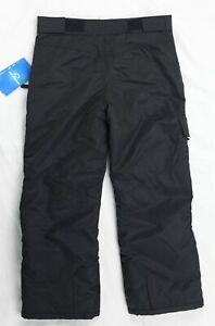 Slalom Ski Pants Children Kids Pull on Pant Black L 10/12 NWT New with tags