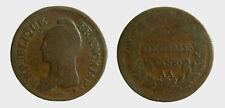 s533_40) FRANCIA DECIME L'AN 8 (1799-1800)  AA  METZ