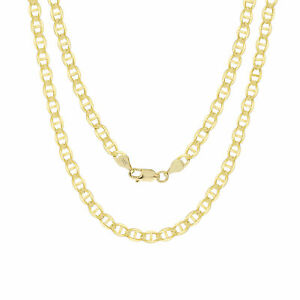 """14K Yellow Gold Solid 5mm Gucci Mariner Anchor Chain Pendant Necklace 18""""- 26"""""""