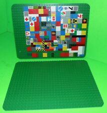 LEGO VINTAGE BASE 25 X 19cm PLATES X 2 & LOTS  OF SMALL FLAT BRICKS.MORE TO LIST