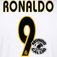 RONALDO #9 REAL MADRID NUMERO HOME KIT NAME SET PRINTING 2003-2005