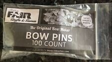 100 Bow Pins for use with all Bow Makers that use Bow Pins /Free Shpg