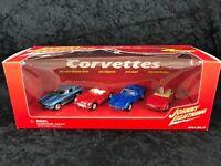 Johnny Lightning 2002 Corvettes Mix 2 Boxed Set Of 4 Generations Of Corvettes