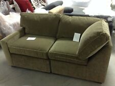 Pottery Barn Square Arm Sectional Sofa Sage Velvet Left Arm Right Chair Corner