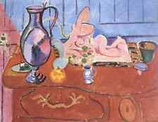 Henri Matisse Pink Statuette And Jug On A Red Chest Of Drawers A4 Photo Print